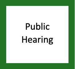 Notice of Public Hearing – April 13, 2021